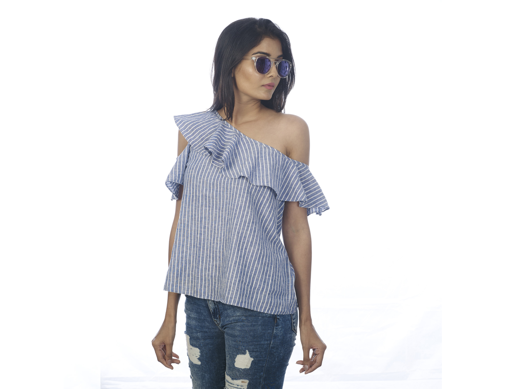 Oneside off shoulder top